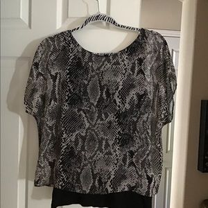 Black and gray blouse